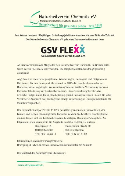 Gesundheits- Sport- Verein FLEXX e.V